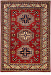 "Classic, Red Wool Area Rug - 5' 10"" x 8' 6"""
