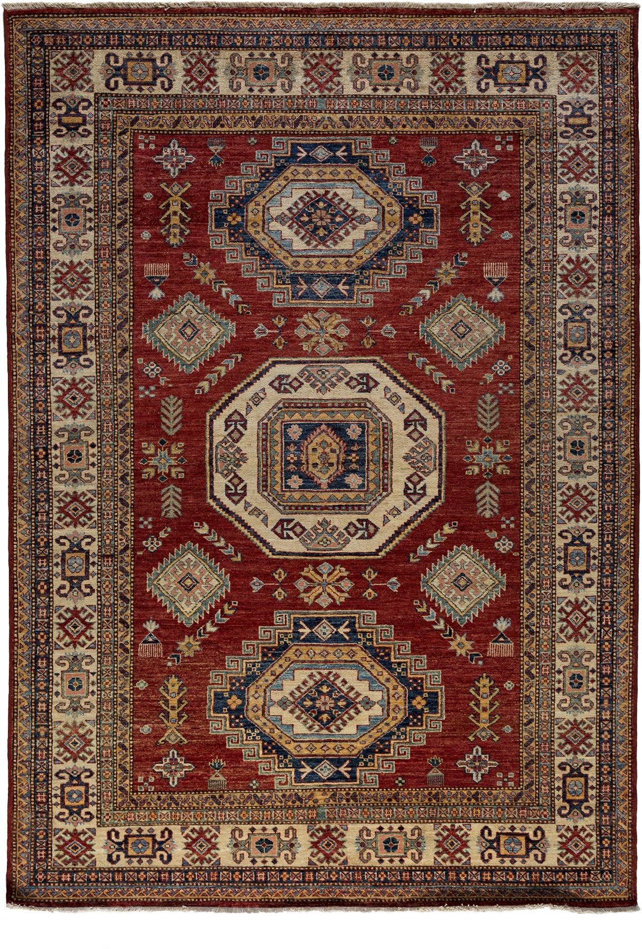 Classic Red Wool Area Rug 5 10 X 8 7 Lillian August