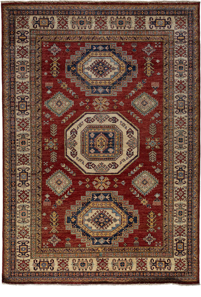 "Classic, Red Wool Area Rug - 5' 10"" x 8' 7"""