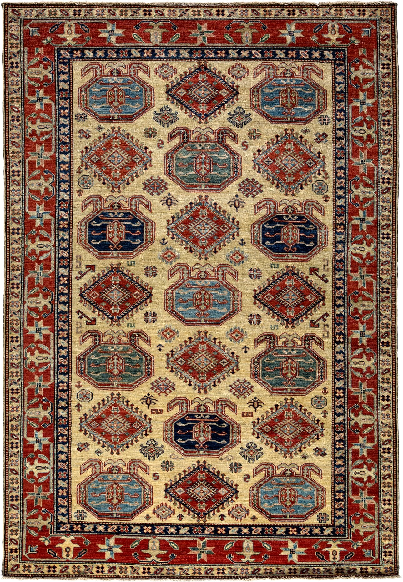 Classic Red Wool Area Rug 5 7 X 8 6 Lillian August