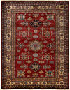 "Classic, Red Wool Area Rug - 5' 1"" x 6' 8"""