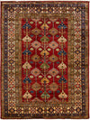 "Classic, Red Wool Area Rug - 4' 10"" x 6' 9"""