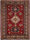 "Classic, Red Wool Area Rug - 5' 0"" x 6' 10"""