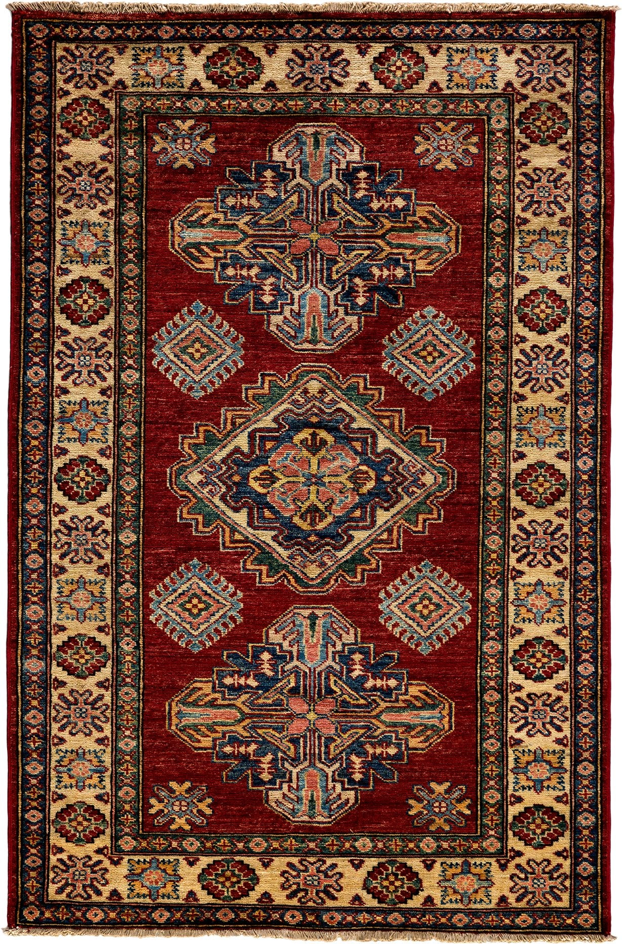 Classic Red Wool Area Rug 3 4 X 5 1 Lillian August
