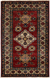 "Classic, Red Wool Area Rug - 3' 0"" x 4' 9"""