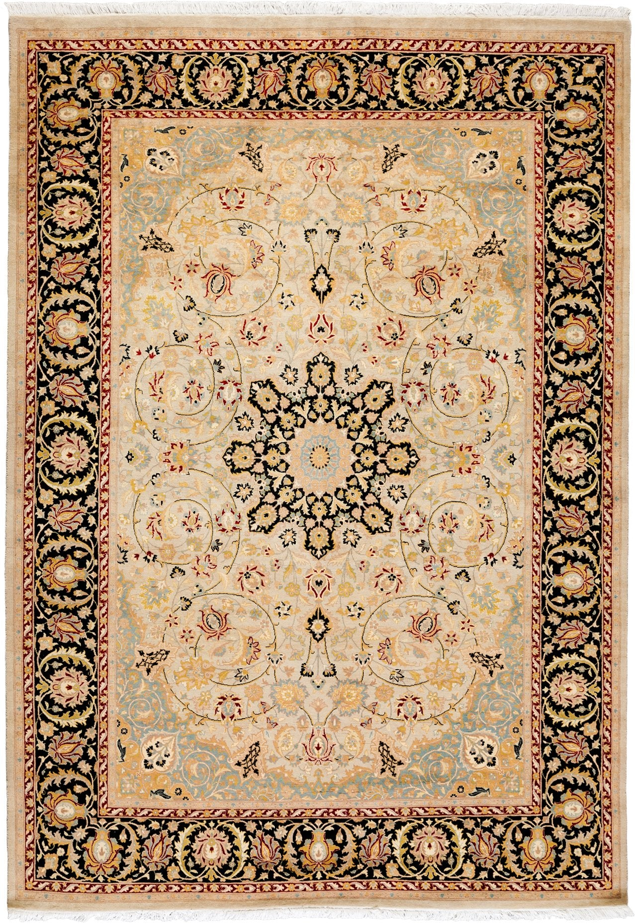 Classic Beige Wool Area Rug 6 2 X 8 10 Lillian August