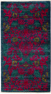 "Arts & Crafts, Pink Wool Area Rug - 2' 10"" x 5' 3"""