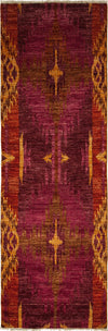 "Ikat, Multi Wool Runner - 2' 8"" x 8' 3"""