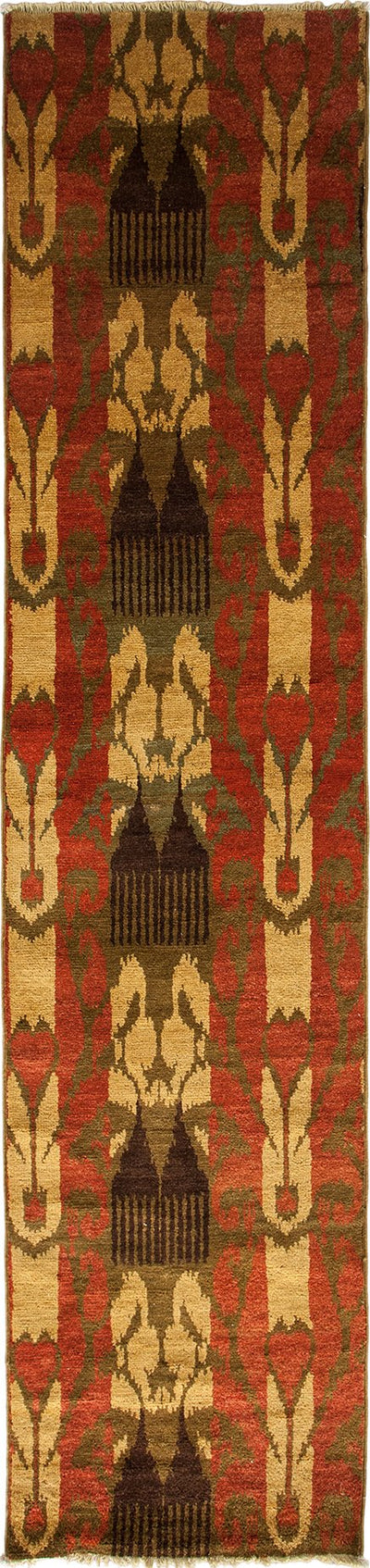 "Ikat, Multi Wool Runner - 2' 4"" x 10' 2"""