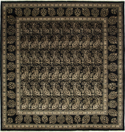 "Oushak, Black Wool Area Rug - 8' 1"" x 8' 4"""