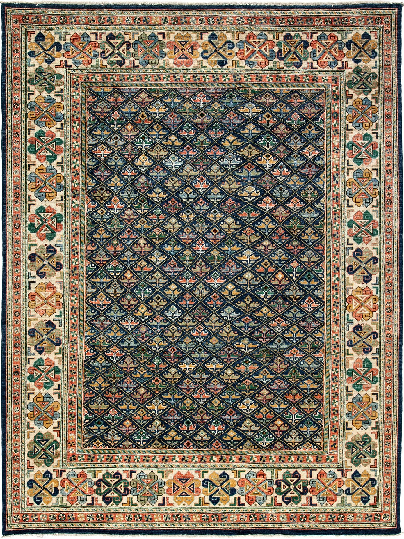 Classic Multi Wool Area Rug 8 10 X 11 10 Lillian August