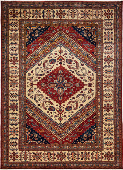 "Classic, Red Wool Area Rug - 7' 3"" x 9' 10"""