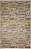 "Arts & Crafts, Gray Wool Area Rug - 5' 2"" x 8' 1"""