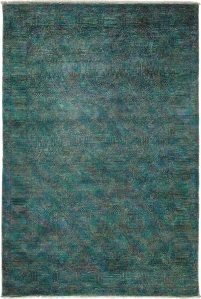 "Classic, Blue Wool Area Rug - 6' 0"" x 8' 10"""