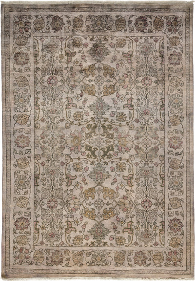 "Classic, Gray Wool Area Rug - 5' 10"" x 8' 5"""