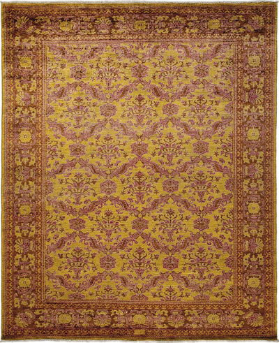"Oushak, Yellow Wool Area Rug - 8' 2"" x 10' 1"""