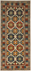 "Classic, Ivory Wool Area Rug - 4' 1"" x 9' 5"""