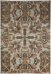 "Classic, Brown Wool Area Rug - 6' 0"" x 8' 9"""