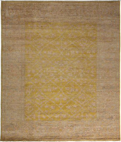 "Oushak, Yellow Wool Area Rug - 8' 4"" x 9' 10"""