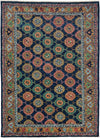 "Classic, Blue Wool Area Rug - 5' 7"" x 7' 9"""