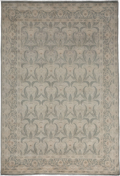 "Oushak, Gray Wool Area Rug - 6' 0"" x 8' 10"""