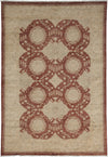 "Oushak, Brown Wool Area Rug - 5' 0"" x 7' 2"""