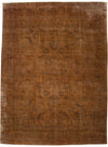 "Vintage, Orange Wool Area Rug - 9' 4"" x 12' 7"""