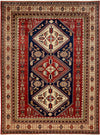 "Classic, Red Wool Area Rug - 7' 1"" x 9' 6"""