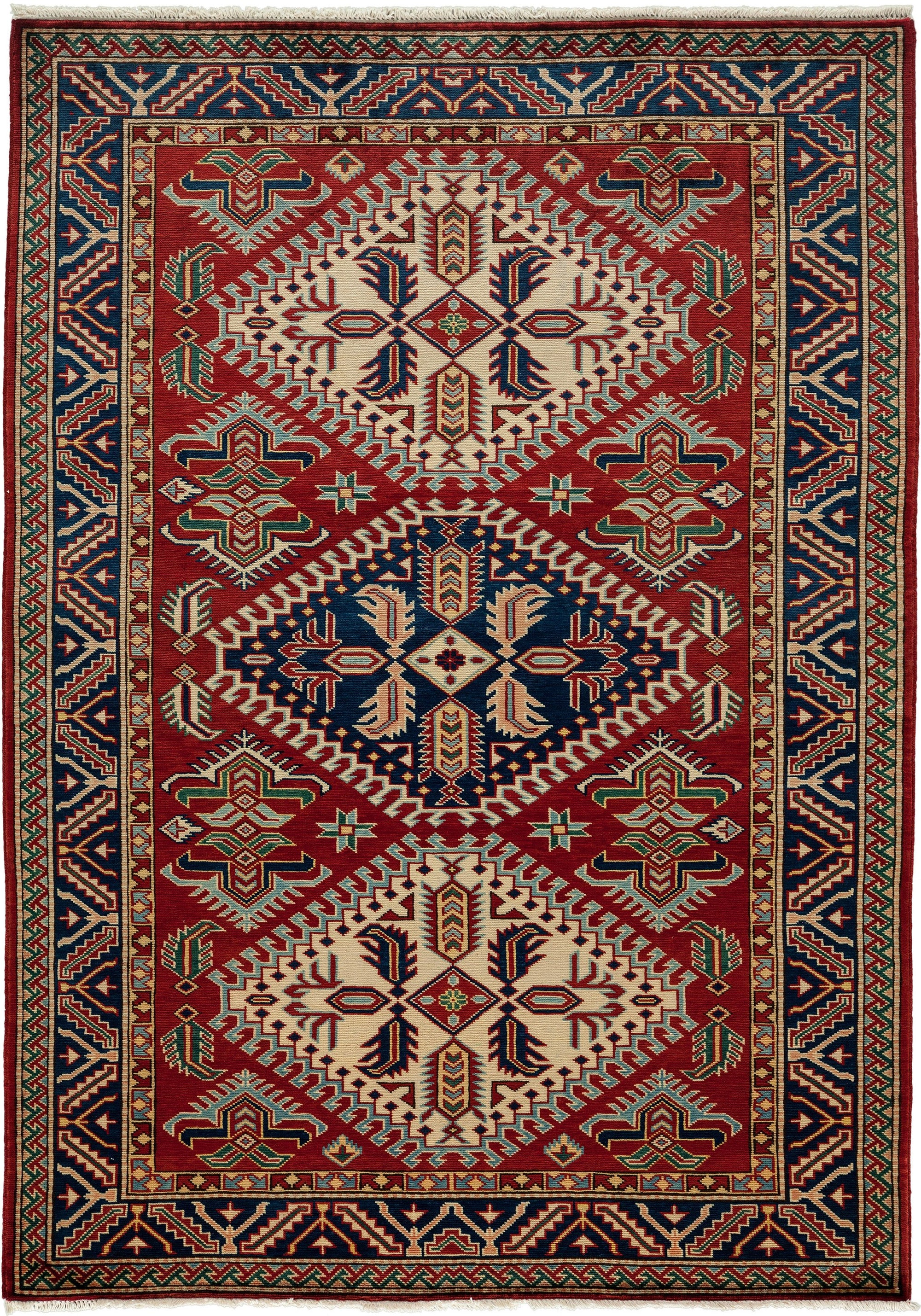Classic Red Wool Area Rug 4 4 X 6 0 Lillian August