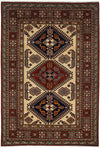 "Classic, Red Wool Area Rug - 4' 2"" x 6' 2"""
