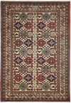 "Classic, Red Wool Area Rug - 4' 4"" x 6' 2"""