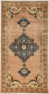 "Modern, Brown Wool Area Rug - 5' 0"" x 10' 0"""