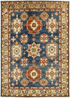 "Kazak, Blue Wool Area Rug - 5' 9"" x 8' 1"""