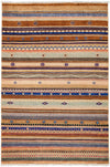 "Tribal, Multi Wool Area Rug - 4' 2"" x 6' 3"""