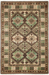 "Classic, Brown Wool Area Rug - 4' 0"" x 6' 0"""