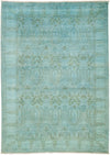 "Overdyed, Blue Wool Area Rug - 6' 2"" x 8' 10"""