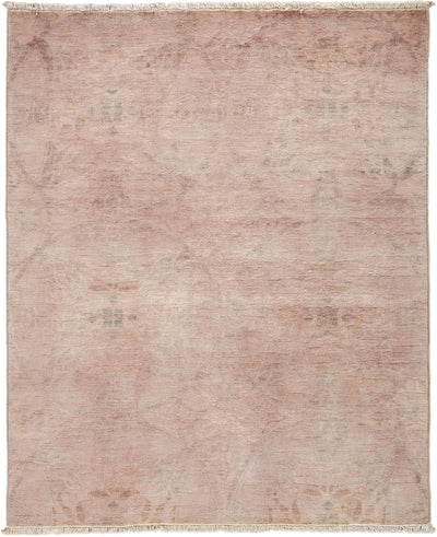 "Overdyed, Pink Wool Area Rug - 4' 2"" x 5' 2"""