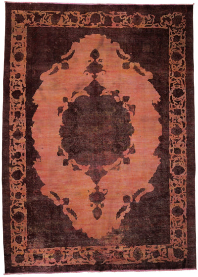 "Vintage, Red Wool Area Rug - 8' 3"" x 11' 4"""