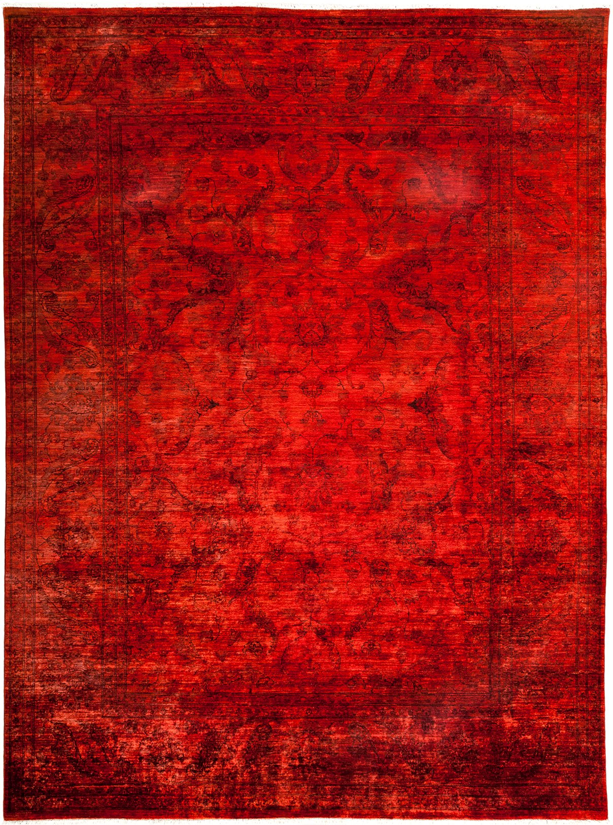 Overdyed Adina Red Wool Area Rug 8 8 X 11 6 Lillian August