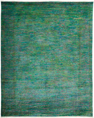 "Overdyed, Adina Green Wool Area Rug - 8' 1"" x 10' 1"""