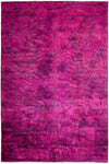 "Overdyed, Adina Pink Wool Area Rug - 6' 0"" x 9' 0"""