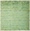 "Overdyed, Adina Green Wool Area Rug - 6' 2"" x 6' 2"""