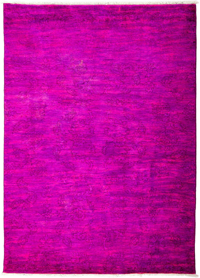 "Overdyed, Adina Pink Wool Area Rug - 5' 5"" x 7' 6"""