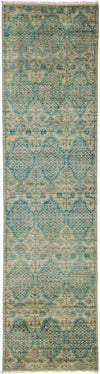 "Modern, Blue Wool Runner - 2' 6"" x 9' 9"""