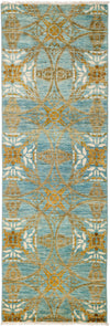 "Suzani, Blue Wool Runner - 2' 7"" x 7' 9"""
