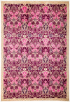 "Arts & Crafts, Pink Wool Area Rug - 6' 1"" x 9' 0"""