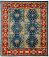 "Classic, Blue Wool Area Rug - 7' 0"" x 8' 0"""