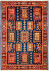 "Classic, Red Wool Area Rug - 6' 0"" x 8' 5"""
