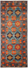 "Classic, Blue Wool Area Rug - 3' 10"" x 9' 5"""