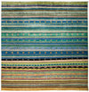 "Tribal, Multi Wool Area Rug - 8' 1"" x 8' 2"""
